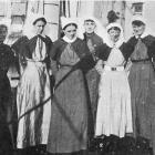 Nursing sisters on the hospital ship Marama at Port Chalmers. — Otago Witness, 14.3.1917.