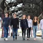 Models from Aart  Model Management in Dunedin take a last practice  strut on Dunedin Railway...