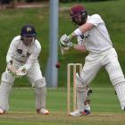 Northern Districts batsman Tim Seifert prepares to cut a delivery in front of Otago wicketkeeper...