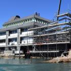 Building is progressing at the University of Otago Portobello aquarium. Photo: Stephen Jaquiery.