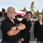 Staff and owners of Wakari businesses (from left) Tony and Heather Cummings, of Barbecue Bill, Jo...