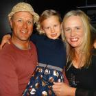 Young actress Georgia Spillane, centre, pictured with dad Mitch and mum Josie at The Inland Road...