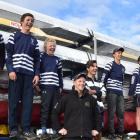 Otago Boys' High School's Maadi Cup squad members (from left) Tom Young (14), Mitchell Duncan (14...
