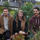 Otago Polytechnic communication design third year students (from left) Liam Hook, Jenah Ferguson...