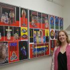 St Hilda's Collegiate School year 13 pupil Amy Jones displays her level 3 painting portfolio...