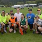Resting between innings in the University of Otago Inter-College Sports Day Super Six tournament...