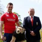 Lions captain Sam Warburton with head coach Warren Gatland after the squad announcement. Photo...