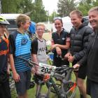 Alexandra mountainbikers (from left) Thomas Begg, Sam Kelly and Will Hinton (all 13) took on...