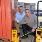 Brothers Greg (left) and Mark Fahey, of Dunedin-based shipping industry weighing company Bison...