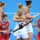 New Zealand's Kirsten Pearce celebrated a goal against the United States. Photo: NZ Herald