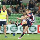 Reece Hodge booted the Rebels to their first Super Rugby win. Photo: Getty
