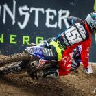 Courtney Duncan takes a corner during the FIM women's world motocross championship in Italy...