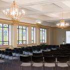 Historical Wains Hotel has three elegant conference rooms to hold your next event in.