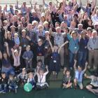 Four generations of the Dick family gather at the Otago Golf Club on Saturday for the family's first reunion. Photo: Peter McIntosh.