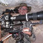 Quinn films from a hide in Arizona. Last year he used Canon's new 50-1000mm lens to film in Tibet but usually he uses a Canon 100mm-400mm lens with extenders that give him up to 800mm focal length and allow him to film animals close-up from a distance. PH