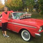 Serious silverware ... Wanaka's Daphne Ledgerwood displays the seven trophies her 1965 Ford...