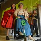Rehearsing for the children's play Little Red Riding Hood at Fortune Theatre yesterday are (from...