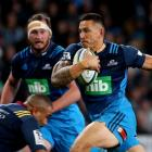 Sonny Bill Williams in action for the Blues against the Highlanders on Saturday night. Photo Getty