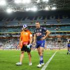 Bulldogs player Josh Reynolds was lost to a hamstring injury amidst the teams winning match....