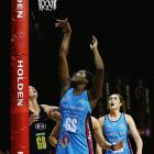 Jhaniele Fowler-Reid shoots for the Steel in 2015 as Brooke Leaver, now with the Mainland Tactix,...