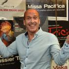 Arts Festival Dunedin director Nicholas McBryde yesterday celebrates the announcement of the...