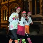 University of Otago students (from left) Lauren Dragovich, of Christchurch, Ellie McDonald, of...