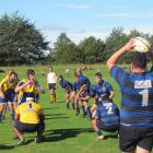 Excelsior front rower Thomas Shield prepared to throw to a lineout during the game against Valley...