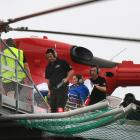 A Frenchwoman is transferred from the Otago Regional Rescue helicopter to Dunedin Hospital...