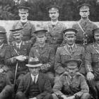 Officers of the 14th South Otago Regiment in camp. - Otago Witness, 18.4.1917.