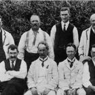 The major placegetters in the provincial bowling match at Gore green: Gore (standing, from left),...