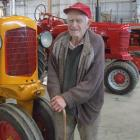 Vintage machinery enthusiast Syd McMann is selling his collection of tractors, implements and parts. Photo by Sally Rae.