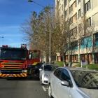 Fire crews were called after a burning smell was reported at Dunedin Hospital. Photo Craig Baxter