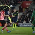Olivier Giroud scores the second goal for Arsenal. Photo Getty