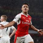 Alexis Sanchez celebrates scoring the second goal for Arsenal. Photo: Reuters