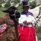 Local artisans and friend, Isla Del Sol (Sun Island), Lake Titicaca.