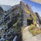 A vibrant landscape which makes up part of a mural on the Clyde underpass. PHOTOS: JONO EDWARDS