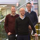 AbacusBio consultants (from left) Peter Amer, Tim Byrne and Hadyn Craig prepare for the opening...