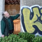 Cargill's Castle Trust chairman Steven de Graaf is fuming that the  Dunedin building was  defaced...