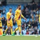 Crystal Palace players after their loss to Manchester City. Photo: Getty Images