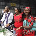 Stall-holders (from left) Marc Makoni, Becky Mbungua and Doreen Makoni with Marcus Mbungua (5...