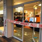 A car was driven through the storefront of DTR in King Edward St early this morning. Photo ODT