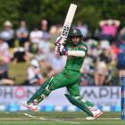 Mushfiqur Rahim scored 45 from as many balls for Bangladesh against New Zealand. Photo Getty