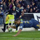 Highlanders replacement first five-eighth Lima Sopoaga dives over to score against the Waratahs...
