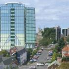 The anticipated view from Cargill St of the hotel proposed for Moray Pl, in Dunedin. IMAGE:...