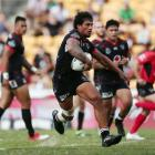 James Gavet on the charge for the Warriors. Photo: Getty Images