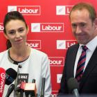 Newly elected Labour Party deputy leader Jacinda Ardern and Labour Party leader Andrew Little...