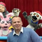 NHNZ managing director Kyle Murdoch is surrounded by puppets at NHNZ's Dunedin studio. Photo:...