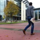 The University of Otago has laid a pink substance on parts of its Dunedin campus to reduce the...