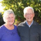 Oamaru couple Laurie and Avis Tempero at home in their garden. Photo: Shannon Gillies.