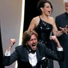 "Director Ruben Ostlund , Palme d'Or award winner for his film ""The Square"" celebrates his win at..."